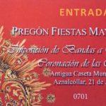 Disponibles las entradas para el Pregón